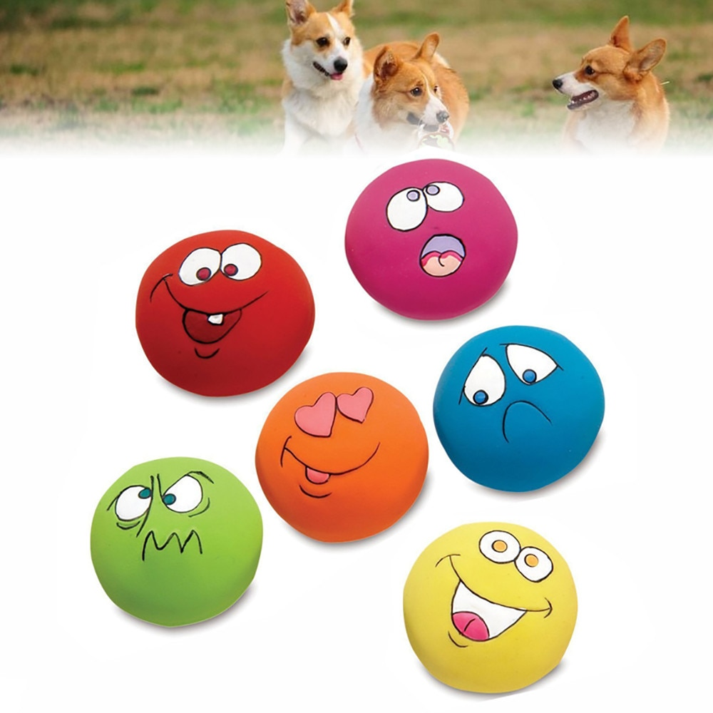 Elastic Squeaking Ball Toy For Dog And Cat