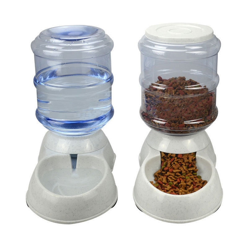 New 3.5L/11L Having Automatic Pet Feeder Drinking Fountain Cat Dog Plastic Food Bowl Pets Water Distributing