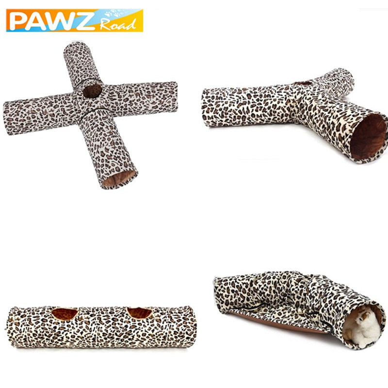 2/3/4 Holes Overlap Pet Cat Burrow Indoor Outdoors
