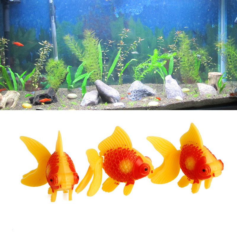 3Pc Aquarium Fish Tank Plastic Swimming Gold Fish Decorate