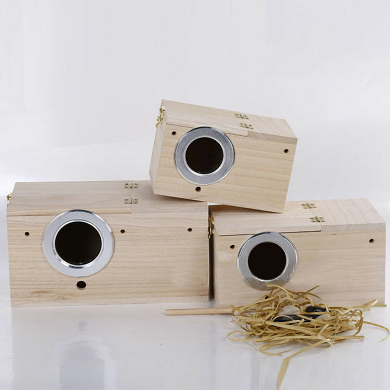 Pratical For Short Birds Budgies Finches Bird Breeding Box Solid Wood