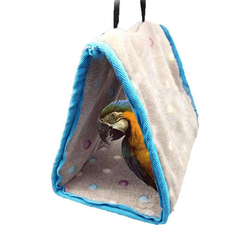 3 Sizes Bird Tassel Pp Cotton Roost Bird's Nest Hamster Hammock Triangular Nests Cave Cage Lavish