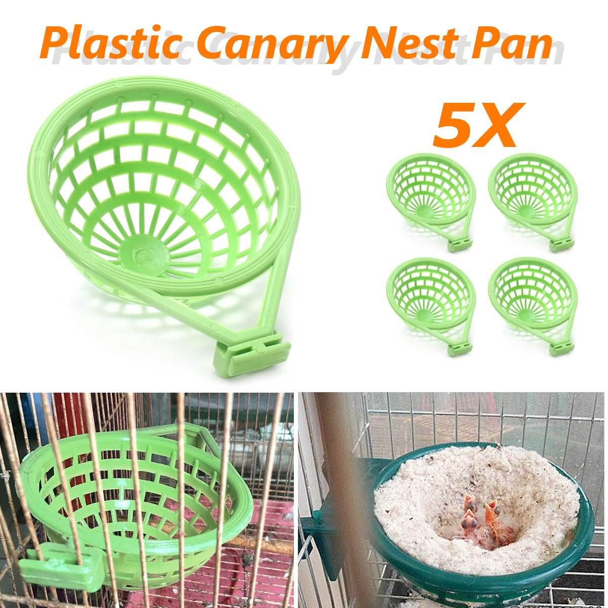 5Pcs/Lot Xxxl Palstic Canary Nest Cage Pan Liner For Nesting Canaries Finches Budgies Pet Birds Hatching Tools Supplies