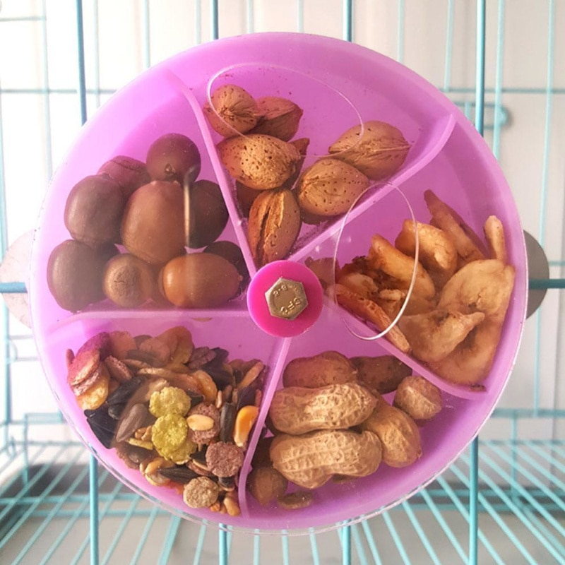 Parrot Foraging Wheel Gnawed Toy Cases Aviary Bird Feeders Shelter Birds Feed Bite Proof Food Box Bird Feed Storage Capacity