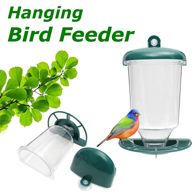 Glass Perspex Window Bird Feeder Hanging