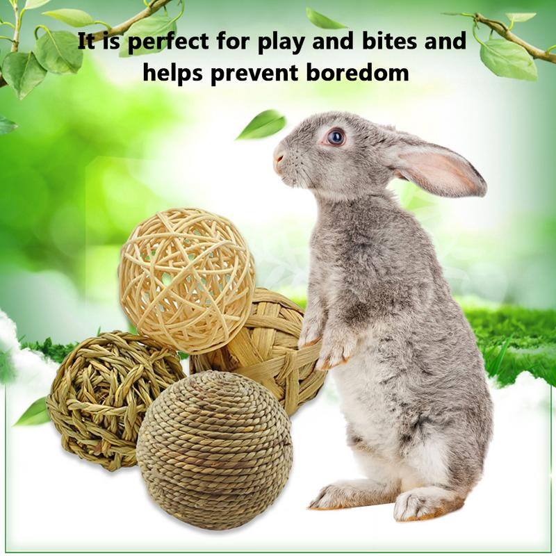 Rabbit Toy Parrot Chew Bite Toy Set Thin Stems Of Palm