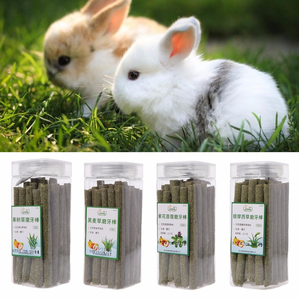 25 Pcs/Bag Short Pets Hamster Grinding Teeth Stick Natural Timophy Lucerne Ryegrass Stick For Rabbit Chinchilla Guniea Pig C42