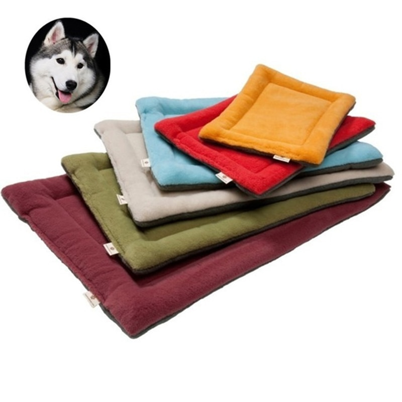 Softer Dog Sofa Mattress Pet Pillow Kennel For Cats Warm Dog Blanket Solid Fleece Lounger Bed For Very Small Medium Big Dog Pet Supplies