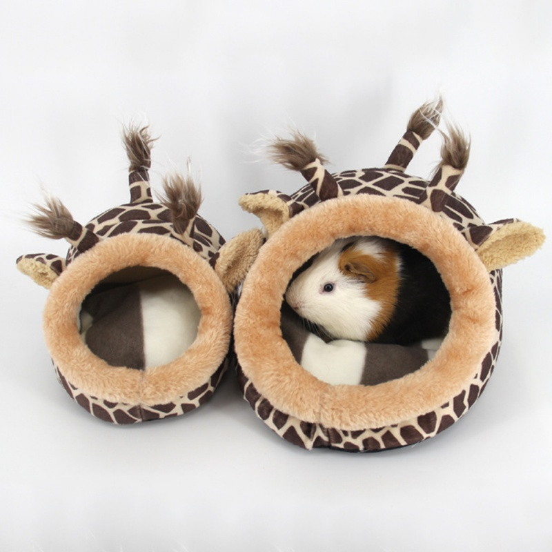Mini Pet Animal Pig Hamster Bed Kennels Squirrel Hedgehog Rabbit Beautiful Chinchilla Rat Bed Kennels Nest Living Nest Kennels 2 Shapes