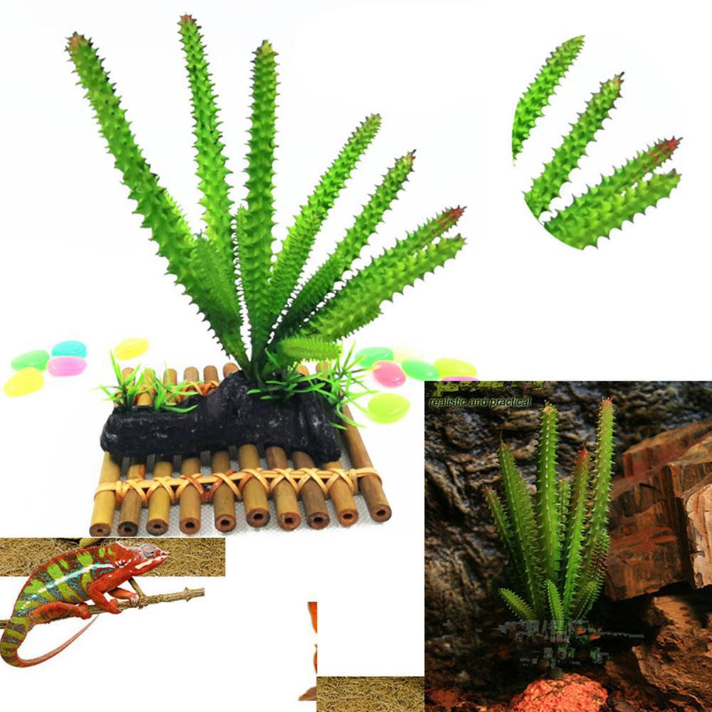 Simulate Succulent Shape Water Plant For Reptiles Box Aquarium Fish Tank Aquarium Landscaping Ornamental Plants Decorations