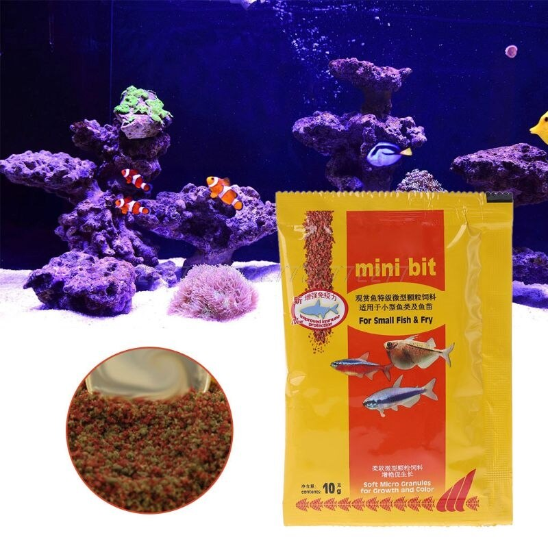 Aquarium Short Fish Food Bettas Tropical Goldfish Healthy Feed Supplies J02 19