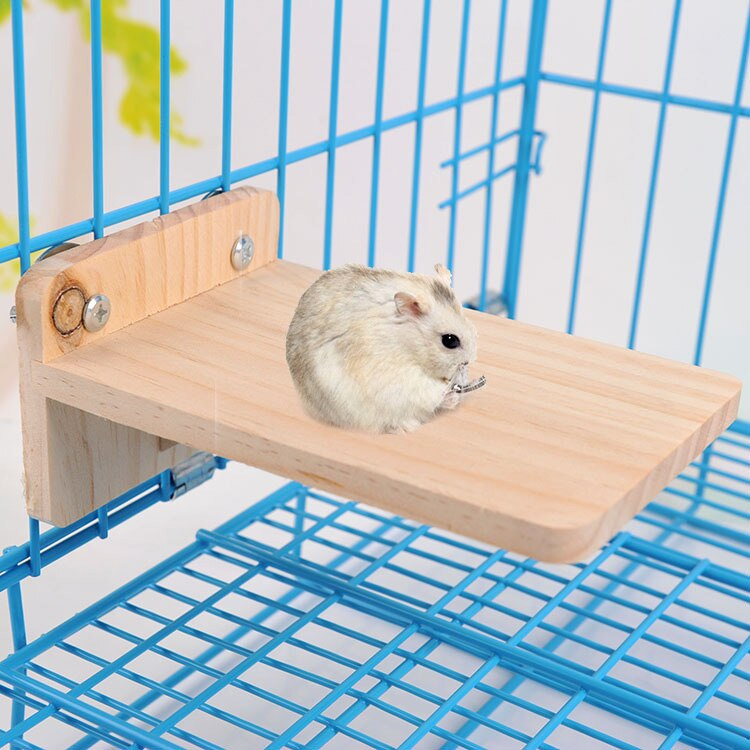 Natural Woodenen Hamster Footplate Pedal Board Hamster Chewing