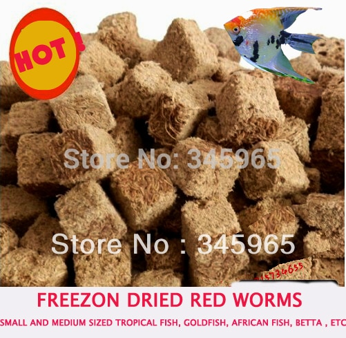 Red Pp Cotton Filarial Worms Dry Red Worms Ranchu Goldfish Tiny