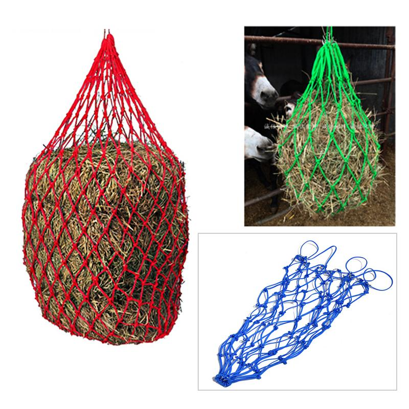 4.5MM Bright Vintage Wool Horse Donkey Feeding Bag Hay Forage Bag Net Horse Hay Feeder Horse Equipment Farm Supplies