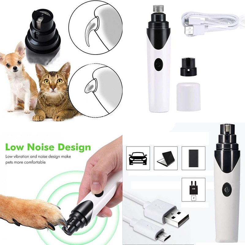 USB Charger Pets Cat Dog Nails Grinders Nail Cutters