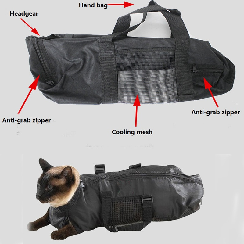 Cat Training Medical Care Products Pet Cat Cat Restraint Bag With Handle For Bothing