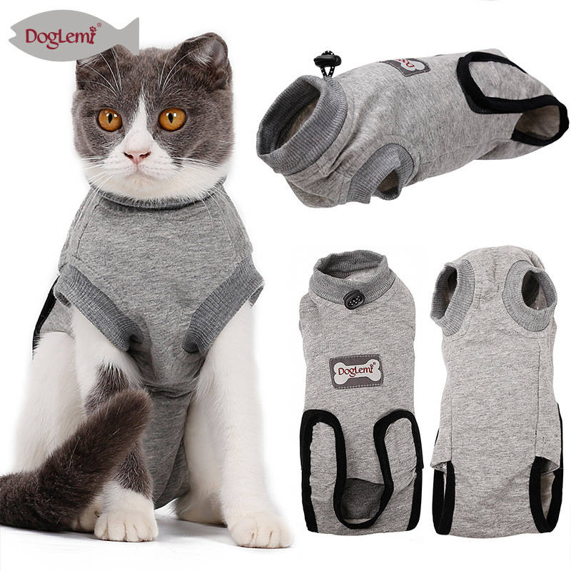 Cat Medical Vest Pp Cotton Pet Shirt Pets Cat Sterilization Clothes Weaning Clothes Bite Proof For Cat And Dog