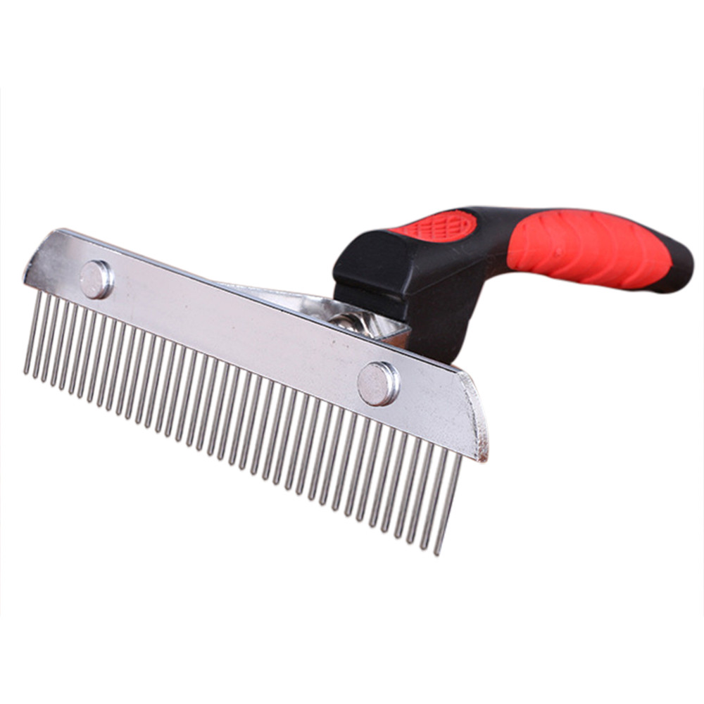 Pet Fur Comb Elastic Handle Stain Resistant Steel Comb Big Dogs Wiping Supplies Pet Supplies Supplies Pet Supplies